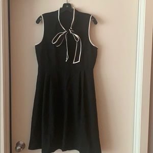 Brand New J. Crew Tie Neck Dress in black size 12